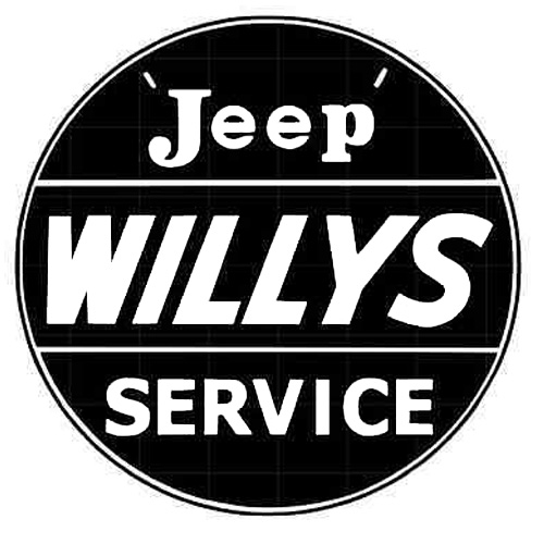 Jeep Willys metal auto parts sign link - Crown Auto Parts